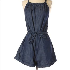 Universal Thread Blue Denim Romper